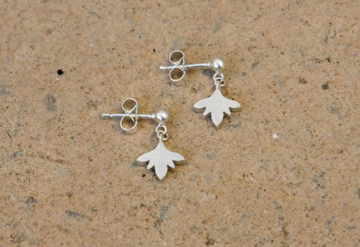 Silver flower drop earrings (08-FD-S)